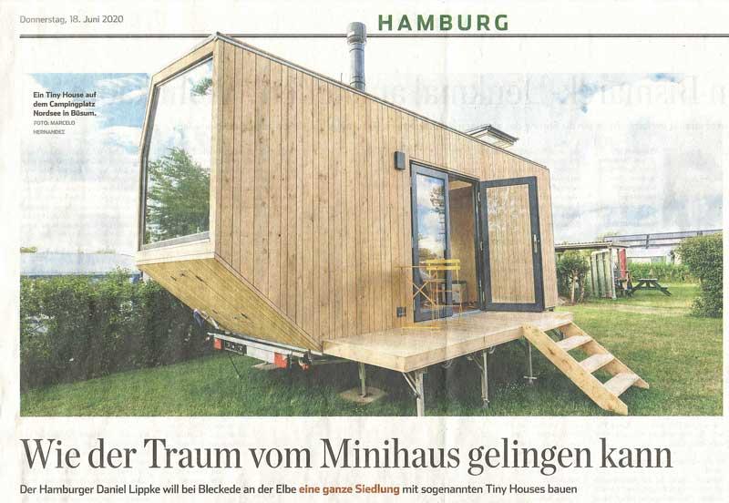 Hamburger Abendblatt Tiny Houses Siedlung