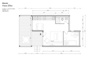 "Elborado Tiny House ""Elbo"" Grundriss 2a Einzelbett"