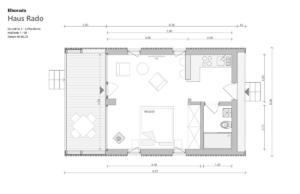 "Elborado Tiny House ""Rado"" Grundriss 2 Loft wohnen"